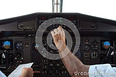 Pilots in flight