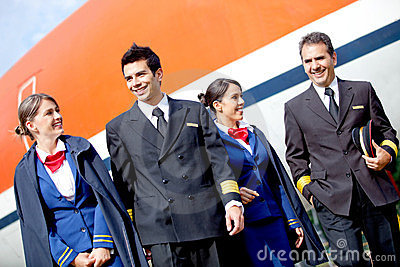 Pilots and flight attendants
