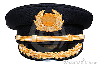 Pilots hat isolated