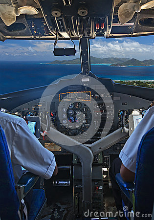 Pilots over tropical islands