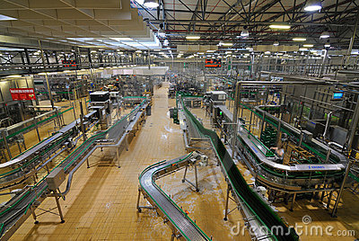 Pilsner Urquell Bottling Plant Editorial Photography