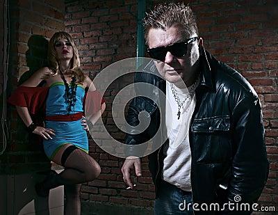 Pimp and a prostitute