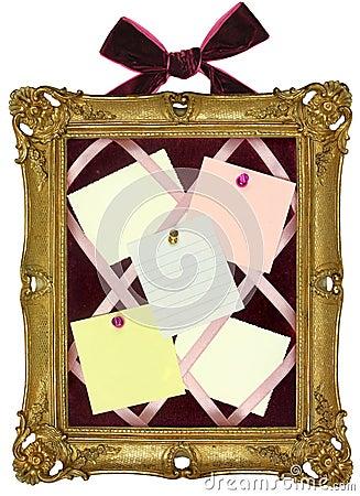 Pin Board in Gold Frame