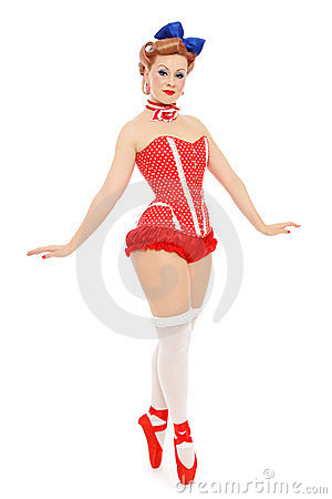 Pin-up ballerina