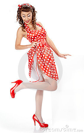 Pin-up girl.