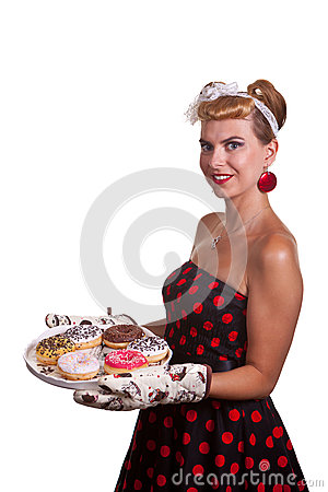 Pin-up Girl with cakes