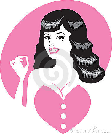 Pin-up girl portrait