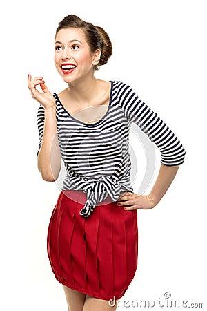Pin-Up Girl Posing