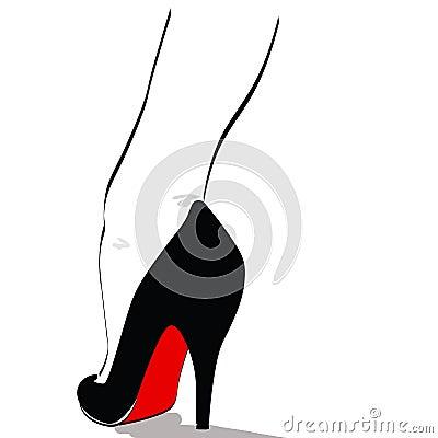 Pin up high heel