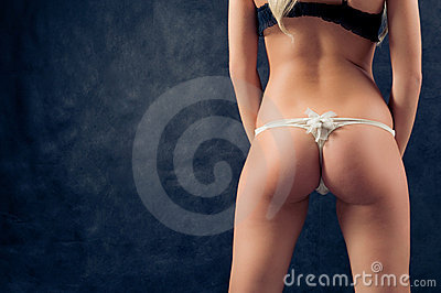 Pin-up image of girl bum