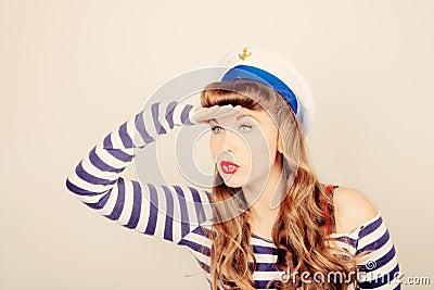 Pin up sailor woman