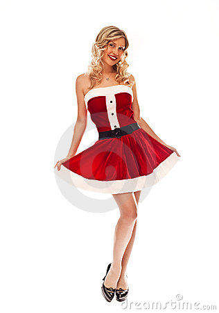 Pin up santa girl