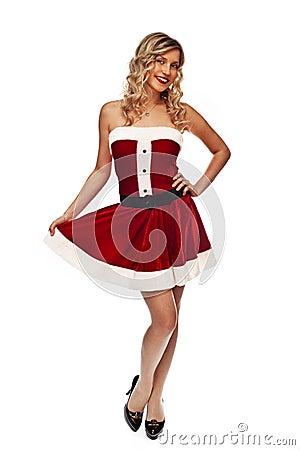 Pin up santa girl