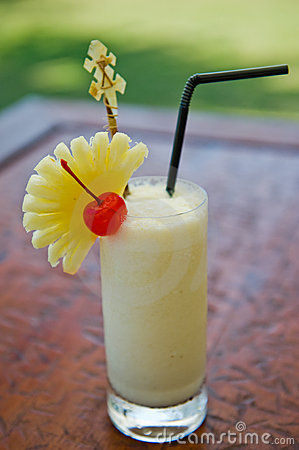 Pina colada cocktail drink