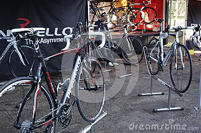 Pinarello racing bike Editorial Stock Photo