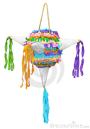Free Pinata Made Of Colorated Crepe Paper Stock Image - 16812111