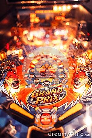 Free Pinball Christmas Arcade Machine Royalty Free Stock Photography - 82965597