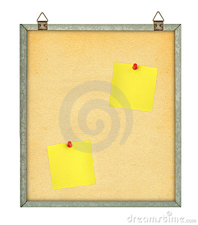 Pinboard with adhesive notes