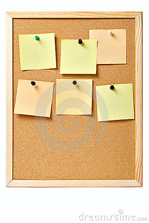 Pinboard with pinned notes