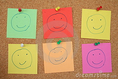 Pinboard smileys