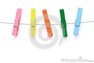 pince 224 linge en bois color 233 e photo stock image 42344728