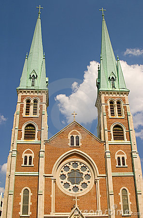 Pináculos da igreja