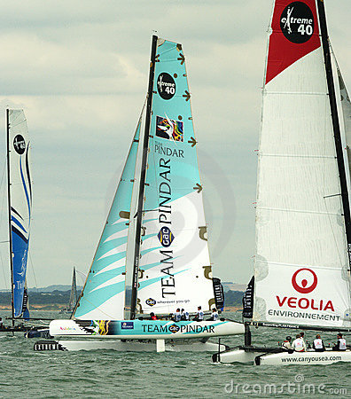 Pindar catamaran at cowes week Editorial Stock Image