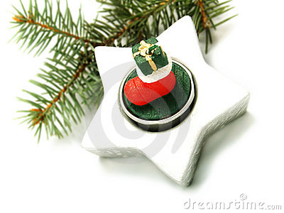 Pine branch, Christmas ornament