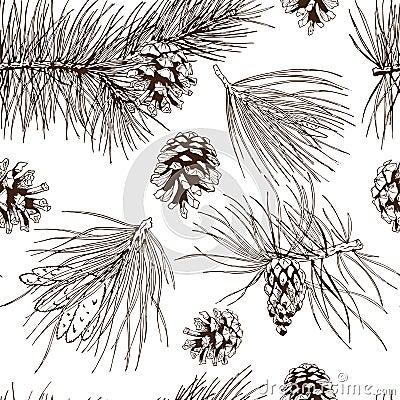 Free Pine Branches Seamless Pattern Stock Photo - 39869780