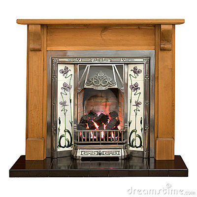 Free Pine Fireplace Stock Photography - 7885432