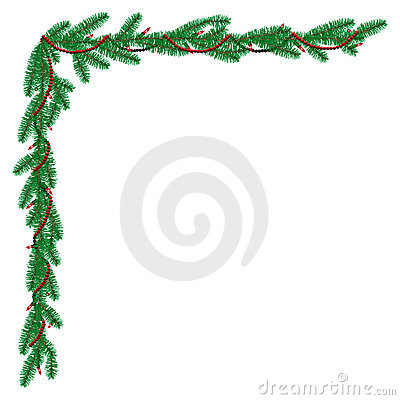 Christmas Greenery Border Stock Illustrations – 60 Christmas ...