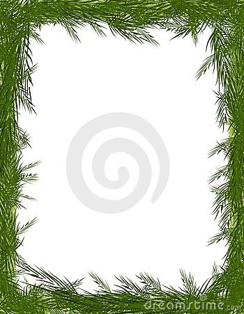 Pine Needle Tree Branch Frame