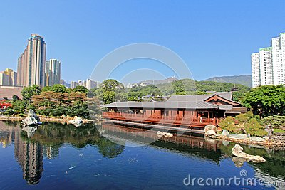 Pine Teahouse (Song Cha Xie) in Hong Kong Editorial Stock Photo
