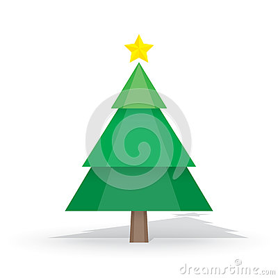 Pine tree and snow theme, merry christmas and happy new year iso Vector Illustration