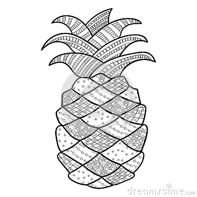 Pineapple Adult Coloring Page