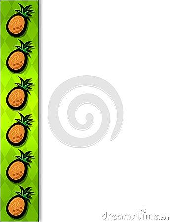 Pineapple Border Stock Image - Image: 8188501