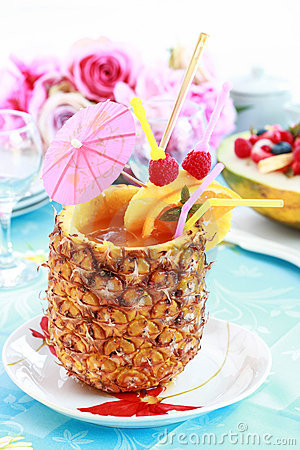 Pineapple Drink Stock Images Image 20133344