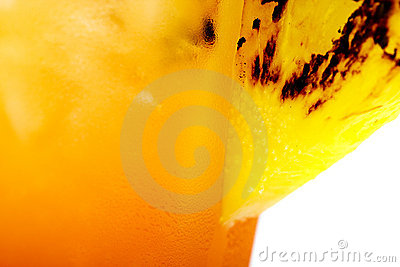 Pineapple Garnish on a tropical drink