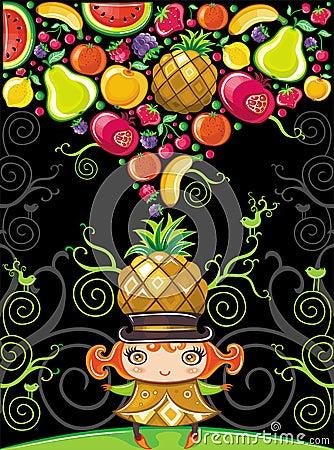 Pineapple girl (fruity series)