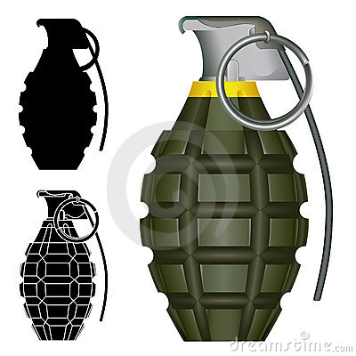 Free Pineapple Hand Grenade Explosive Royalty Free Stock Photos - 12708338