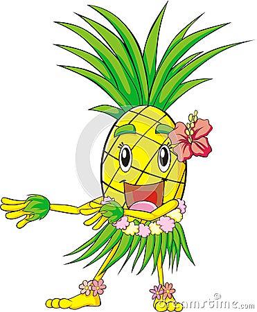 Pineapple Hula Dance Royalty Free Stock Photos Image