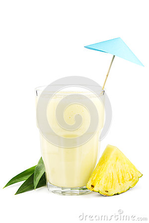 Pineapple milkshake