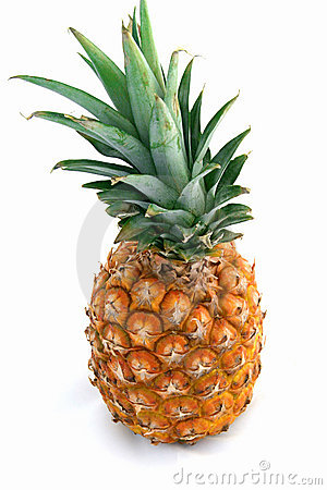 Free Pineapple On White Stock Photos - 143063