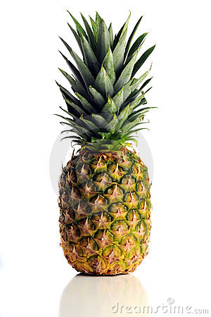Free Pineapple Over White Background Stock Image - 17655831