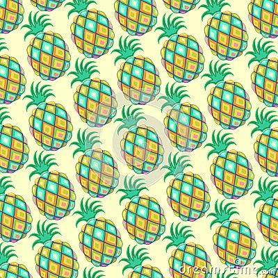 Pineapple Pastel Colors Pattern