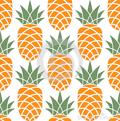 Free Pineapple. Pattern Stock Images - 34752214