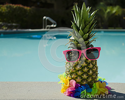 Pineapple by the pool