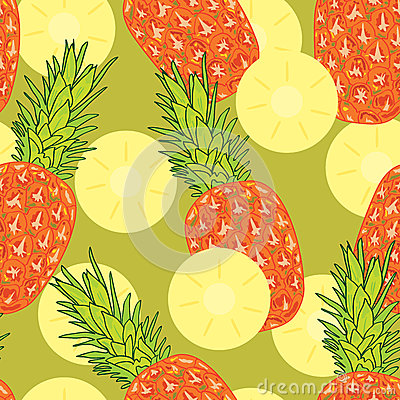 Free Pineapple Slice Seamless Pattern Stock Photos - 47552233