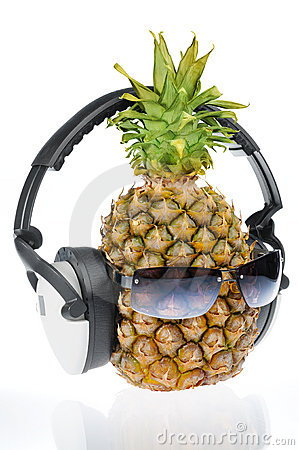 Pineapple in sun glasses