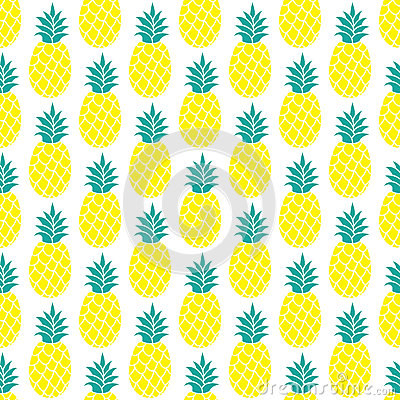 Free Pineapple Vector Background Royalty Free Stock Images - 73257849